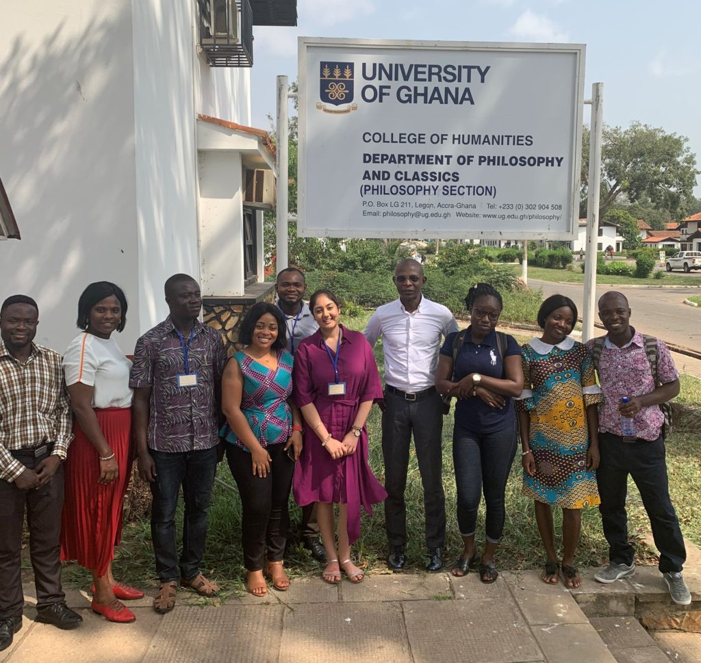 Caesar, Kiran and the research agents outside the Department of Philosophy, Ghana