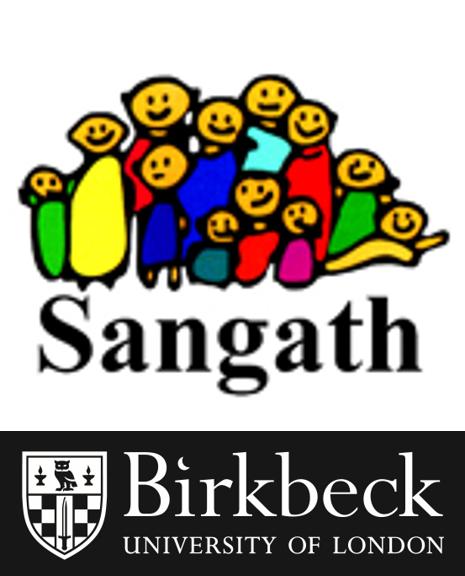 Sangath and Birkbeck University of London logos
